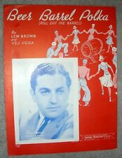 1939 Beer Barrel Polka (Roll Out the Barrel) Sheet Music Blue Barron by Brown