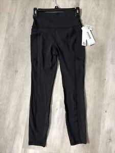 RBX Active Women's Squat Proof High Waist leggings Workout Pants Sz S Black