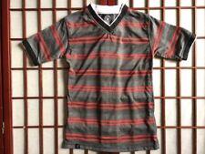 Street Rules Short Sleeve Striped Shirt Boys Size 8 Cotton Blend Garment Apparel