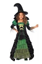 New Halloween Cosplay Costume Girls Storybook Witch Size Large