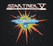 M * Nos thin vtg 80s 1989 Star Trek V The Final Frontier movie t shirt * 71.140