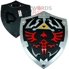 Dark Links Zelda Shield - Extra Large All Steel 25 Inches Black Link Game Legend