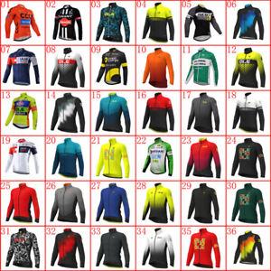 2021 Mens Cycling Jersey Bike Shirt Long Sleeve Bicycle Tops Racing Sportswear