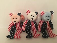 Ty Beanie Babies - Spangle - Pink, White And Blue Faced