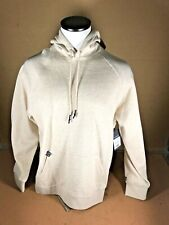 Mens Russell Tan Hoodie Size Large (42-44) Oatmeal Heather Pullover NWT