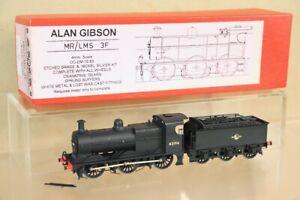 ALAN GIBSON KIT BUILT BRASS BR BLACK 0-6-0 FOWLER CLASS 3F LOCOMOTIVE 43194 nx