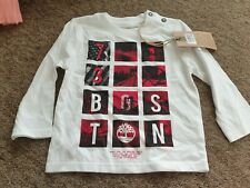 NEW Timberland white long sleeved t-shirt 'Boston' age 2 years
