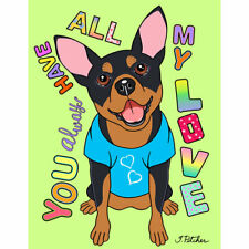 "Miniature Pinscher ""Dog Says"" Decorative Flag"