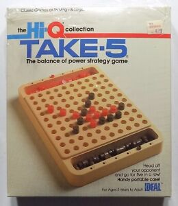 Vintage 1980s Hi-Q Take-5 Power Strategy Game Ideal Unplayed