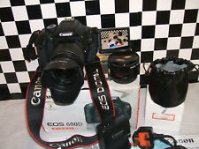 Canon EOS 600D 18.0MP Digital SLR Camera - with THREE LENSES