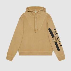Gucci Logo Print Sweatshirt Hoodie size S