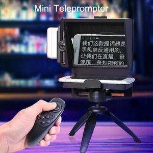 Mini Teleprompter Portable Inscriber Mobile Artifact Video Remote for Phone