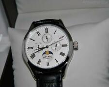 Rotary Men's Stainless steel Moonphase Calender White dial Dolphin  strap Watch