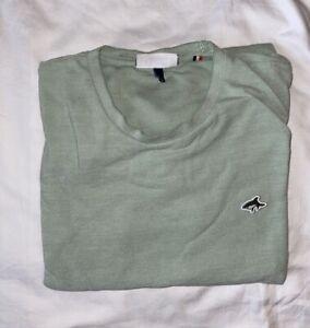 Le Shark Men's Green T-Shirt - Size Medium