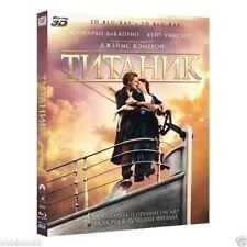 *NEW* Titanic (Blu-ray 3D+2D, 2012, 4-Disc Set) English,Russian,Czech,Ukranian