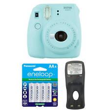 Fujifilm Instax Mini 9 (Ice Blue) Camera w/ Extra Batteries & Charger Bundle