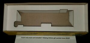 """Athearn Rotary Snow Plow laser cut insert for 10.5"""" Athearn yellow or blue box"""