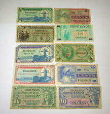 Lot Of 10 Miscellaneous U.S. Military Pay Certificates