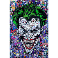 Hot Batman Joker DC Superheroes Comic Cartoon Silk 24x36Inch Custom Poster P-216