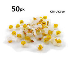 50-PACK Yellow 2-Wire IDC Connector, Splices 22-26 AWG Wire, CM-UY2-50