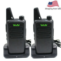 2PCS WLN KD-C1 UHF 400-520MHz transceiver 16CH two way radio + charger desktop