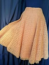 Vintage gold Horsehair sheer Stiff circle Skirt lined Anna Giavonotti Florence