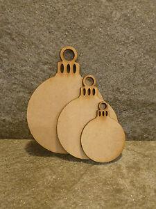 Wooden Christmas hanging bauble decoration craft blank embellishment