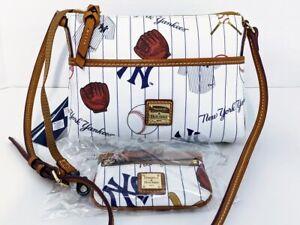 New Dooney Bourke MLB New York Yankees Ginger Crossbody + Coin Case