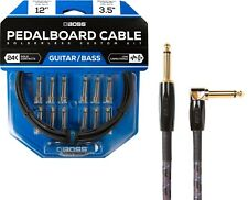 New Boss BCK-12 Custom Solderless Pedalboard Patch Cable kit! w/ BIC-10A Cable!