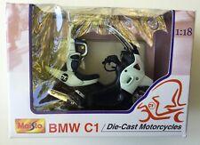 Maisto 39350 1:18 BMW C1-PALE BLUE Die-Cast Motorcycle, Motorbike