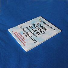 "EPSON  PREMIUM GLOSSY PHOTO PAPER 8"" x 10"" (10"" x 8"") 20 SHTS NEXT DAY DELIVERY"