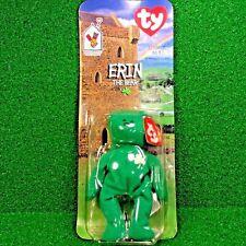 *NEW in BOX* RARE 1997 Retired Erin The Bear McDonald's Ty Beanie Baby Plush Toy