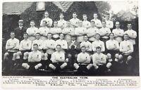 .SUPER RARE 1908 - 1909 TOUR OF UK AUSTRALIAN RUGBY UNION TEAM POSTCARD. UNUSED.