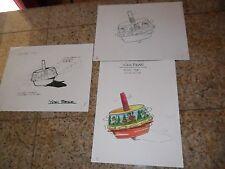3 Lot 1 Color Original Art Yogi Bear Cartoon Noise Top Toy Burger King