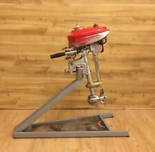 Vintage Antique 1941 1hp Sears Waterwitch Race Outboard Resto Mod &display stand
