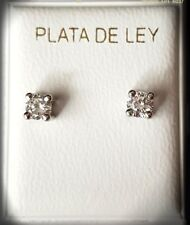 PENDIENTES NIÑA PLATA DE LEY CON CIRCONITA EARRINGS GIRL SILVER OF LAW CIRCONITA