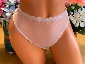 Ultra See Thru Sheer Size 9/2XL PINK Hi Cut Bikini Panties Nylon Blend NWOT