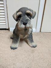 "Miniature Schnauzer Dog Large Statue 12"" X 12"" Life Size Country Artists 02873"
