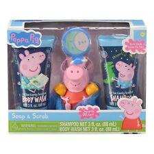Peppa Pig Soap and Scrub Shampoo and Body Wash Bath Gift Set 4pcs Childrens Kids