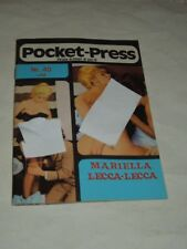 RIVISTA CULT VINTAGE EROTICA N.40 POCKET-PRESS DEL 30 NOVEMBRE  1977-MARIELLA