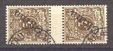 Kiautschou, China 1898 Gutter Pair used, Forerunner, Michel V 1 II a VF ++, exp.