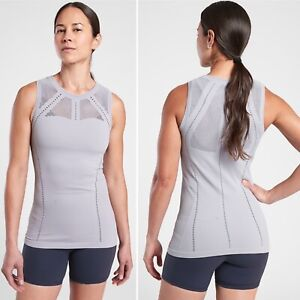 NWT Athleta Oxygen 2.0 Tank X-SMALL XS Muted Lilac Seamless Breathable Yoga Top