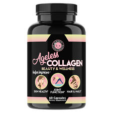 Angry Supplements Ageless Collagen for Healthy Skin, Joints, Hair & Nails 1-Pack