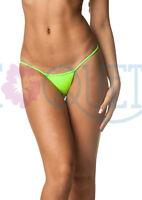 COQUETA women Cheeky Thong Neon Green bottom beach sexy lime Bikini playa swim
