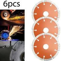 "Mini 4.5""Angle Grinder Dry Diamond Cutting Discs Concrete Stone Brick Blade 6pcs"