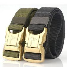 """2PCS 1.5"""" Mens Nylon Belts Heavy Duty Quick Release Buckle Webbing Rigger Belt"""