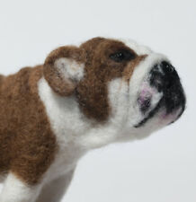 English Bulldog - One of a kind, needle felted, animal, sculpture
