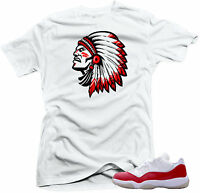 "Shirt to match  Air Jordan Retro 11 Low Varsity Red Sneakers""Chief2"" White"