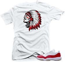 "Shirt to match  Air Jordan Retro 11 Low Varsity Red Sneakers""Chief2"" White"