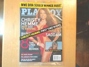 Playboy April 2005 Christy Hemme WWE Diva FACTORY SEALED